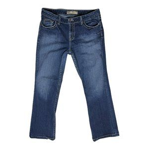 BKE Denim Kate Blue Jeans Size 33 Dark Wash *Roughly Hemmed